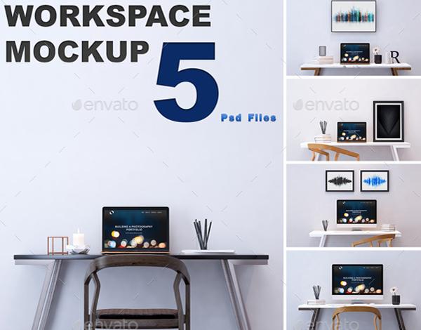 PSD Workspace Mockup Designs