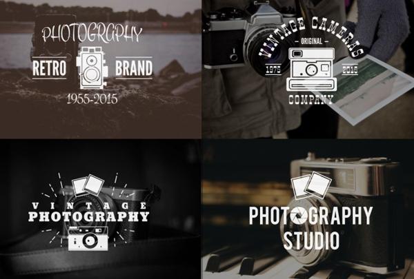Photography Retro Logo Templates