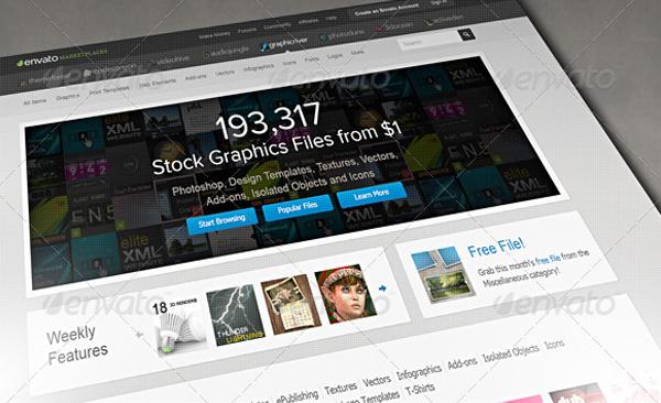 Photorealistic Pixel Screen Web Browser Mockup