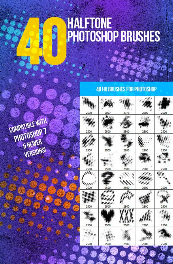 Photoshop 40 Halftone Brushes