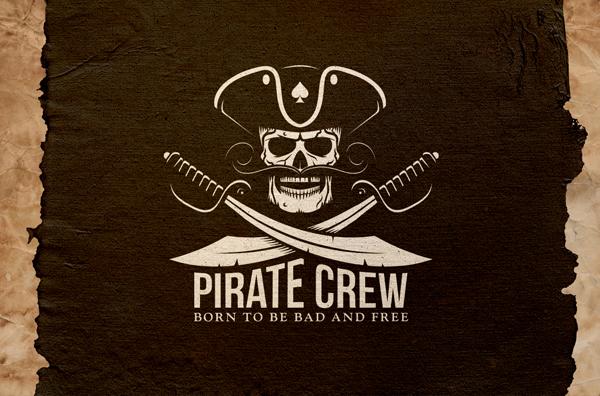 Pirate Crew Retro Logo
