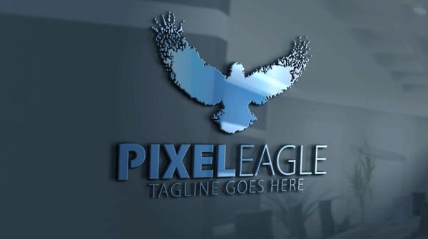 Pixel Eagle Logo Design Template