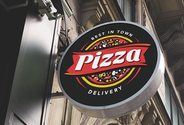 Pizza Logo Template Design