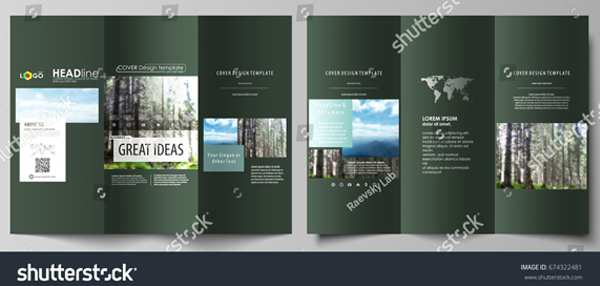 Polygonal Style Travel Brochure