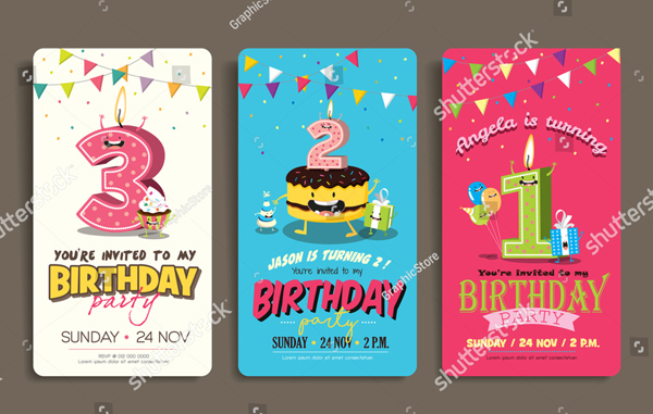 Printable Childrens Birthday Party Invitation Card Template