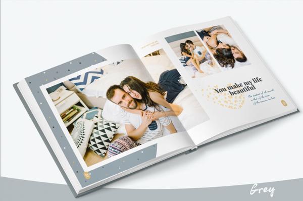 Professional Wedding Photo Albums Design Template