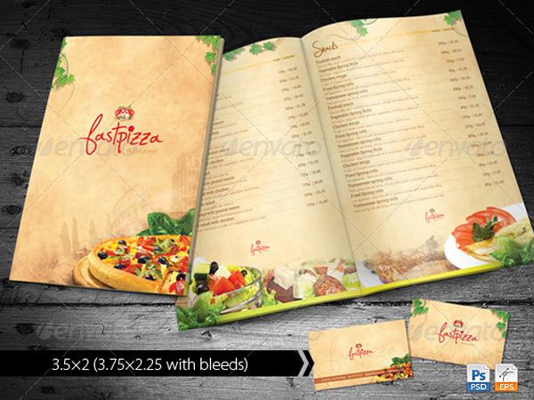 Printable Restaurant Menu Design