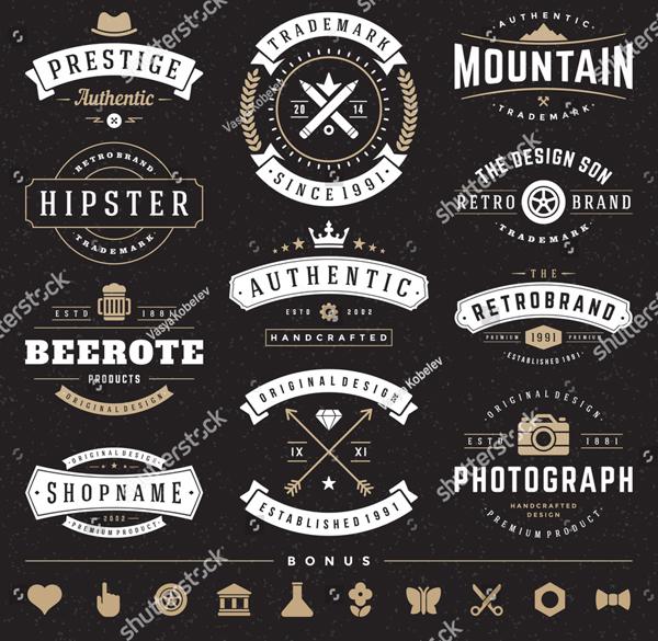 Retro Vintage Logo Templates