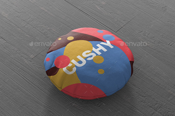 Round Pillow Mockup Design Template
