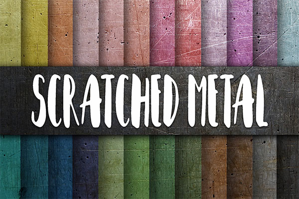 Scratched Metal Textures Digital Paper Bundle