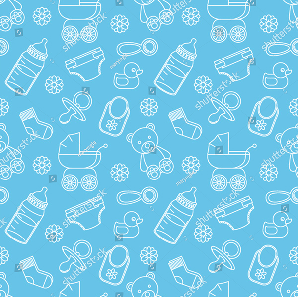 Seamless Baby Vector Patterns
