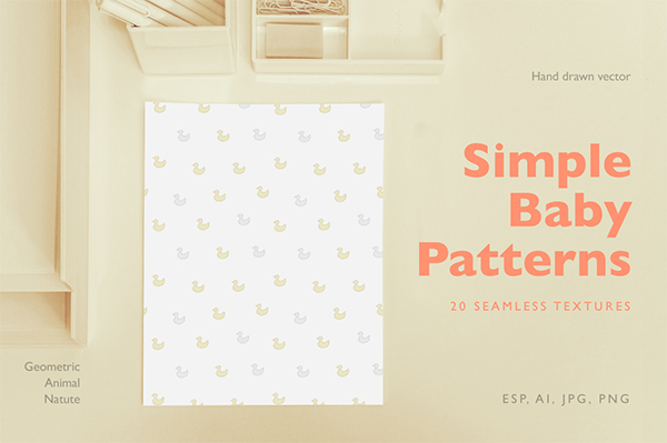 Simple Baby Patterns Template