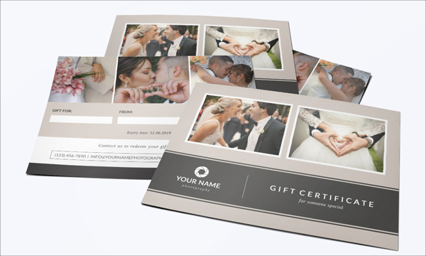 Simple Photography Gift Certificate Template