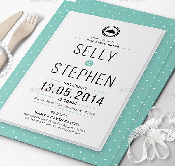 Simple Wedding Dinner Invitation
