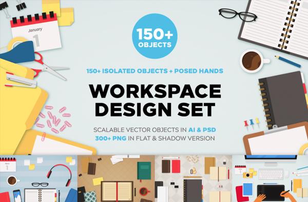Simple Workspace Mockups Bundle
