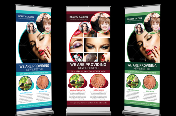 Spa Beauty Saloon Rollup Banner Design