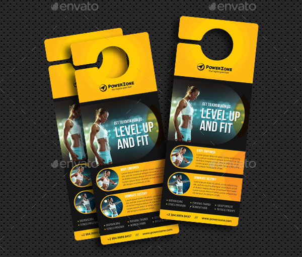 Sport Activity Door Hanger Designs