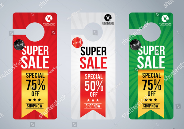 Super Sale Door Hanger Design Template