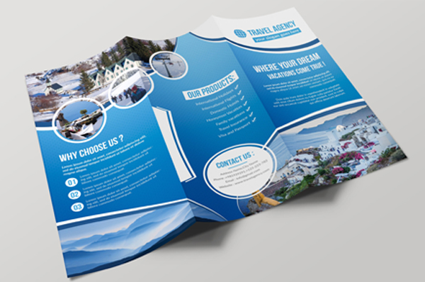 Travel & Holiday Trifold Brochure Template