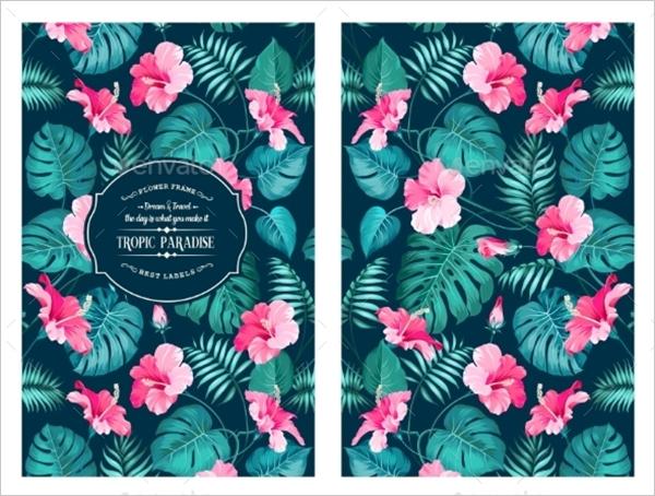Tropical Flower Pattern Design