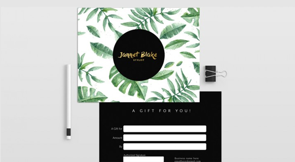 Tropical Gift Certificate Template