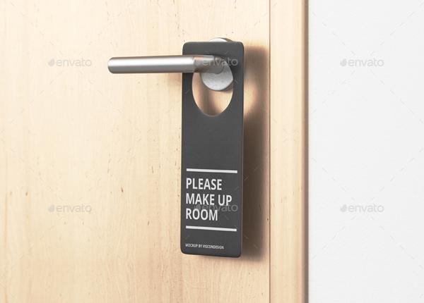Best Door Hanger Mockup Templates