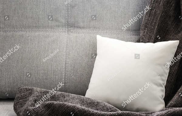 Unique Modern Soft Pillow Mockup