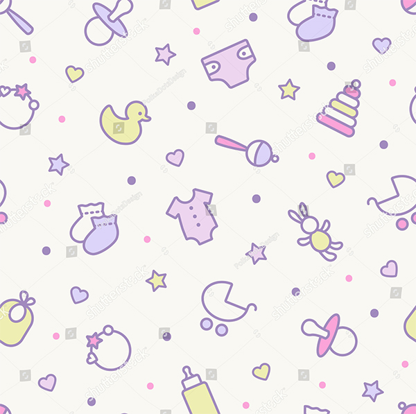 Vector Seamless Pattern Pastel Colors