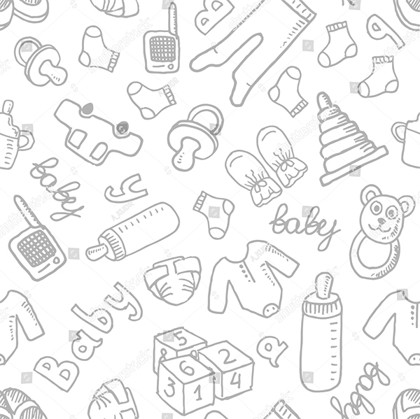 Vector Doodle Seamless Pattern