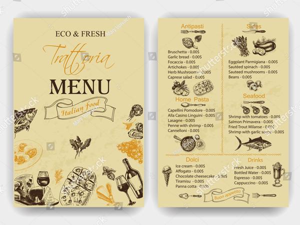 Vintage Dinner Invitation Design Template