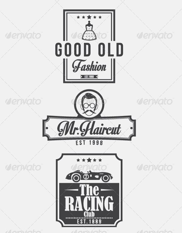 Vintage Retro Logo Design Templates