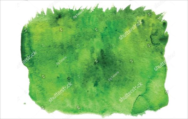 Watercolor Green Grass Pattern
