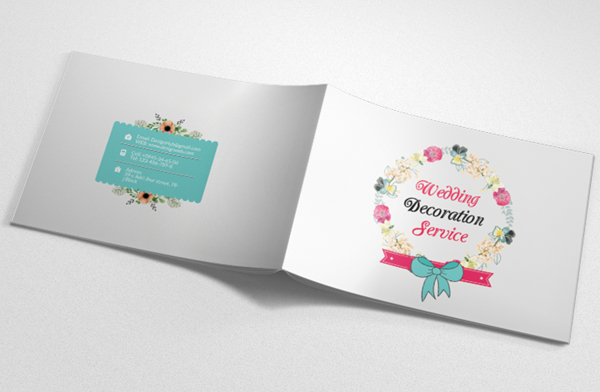 Wedding Planner Square Bifold Brochure