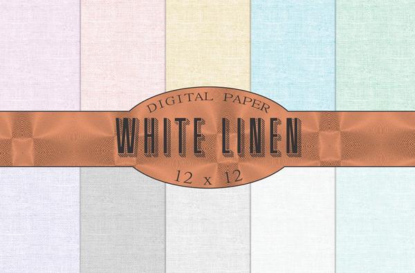 White Linen Texture Backgrounds