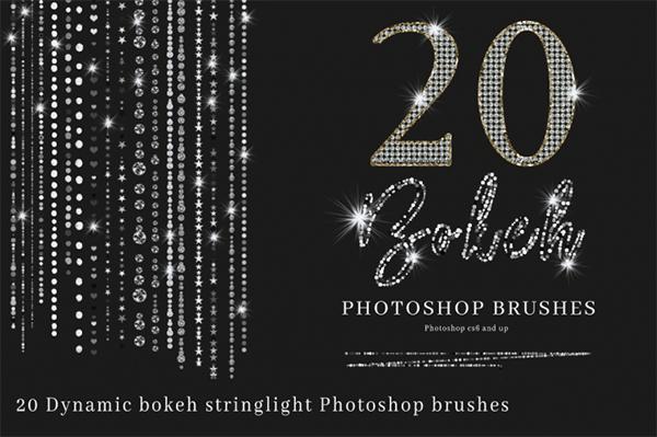 Bokeh String Light Photoshop Brushes