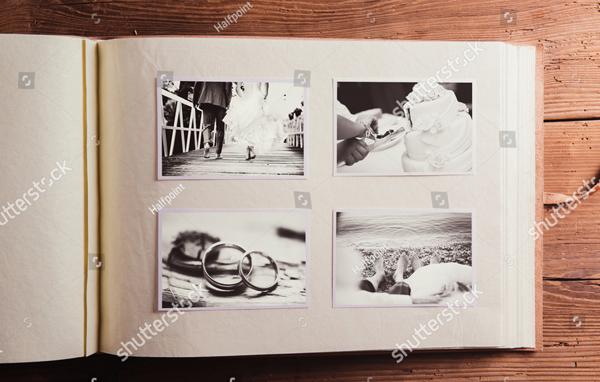 Old Style Wedding Photo Album
