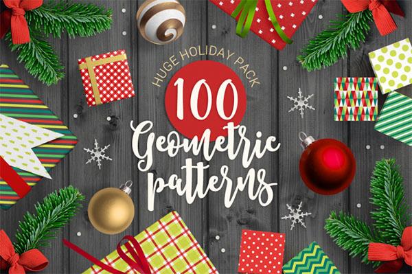 100 Geometric Christmas Patterns