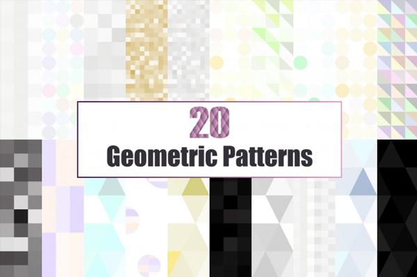20 Glitter & Geometric Patterns