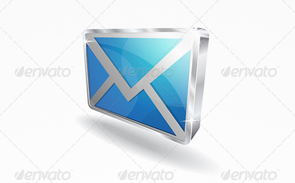 3D Email Vector Icons