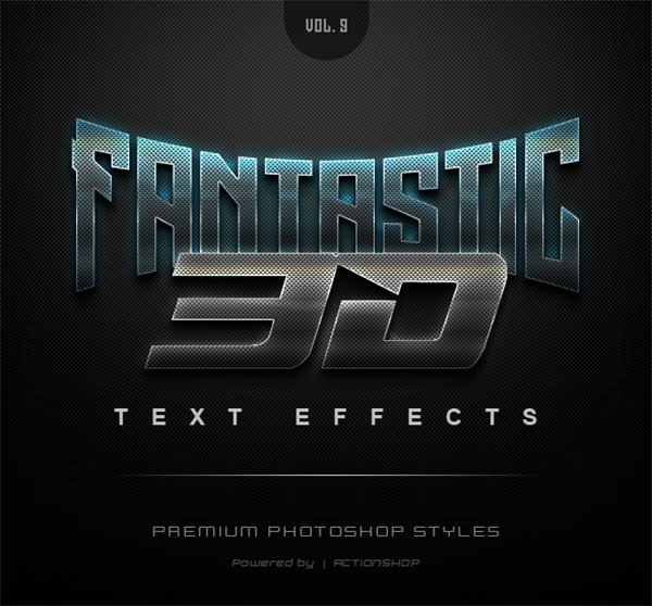 3D Text Effects Game Styles
