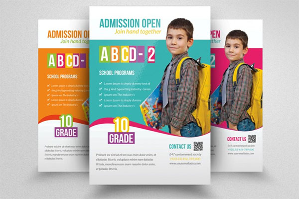 Admission School Flyers
