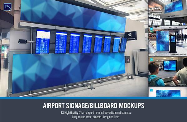 Airport Digital Signage Mockups