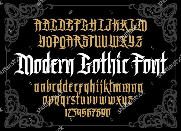 Alphabet Tattoo Font