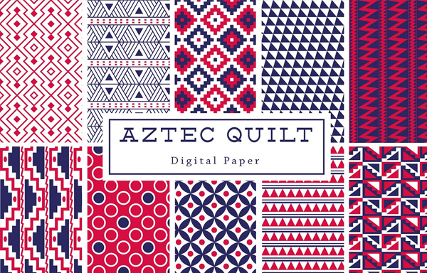 Aztec Quilt Backgrounds