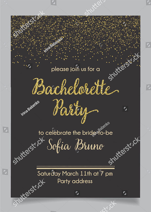 28 bachelorette party invitation templates free premium downloads bachelorette party bridal shower invitation stopboris Choice Image