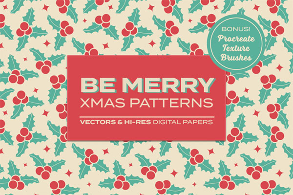 Be Merry Christmas Patterns