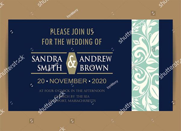 Beautiful Engagement Invitation Design