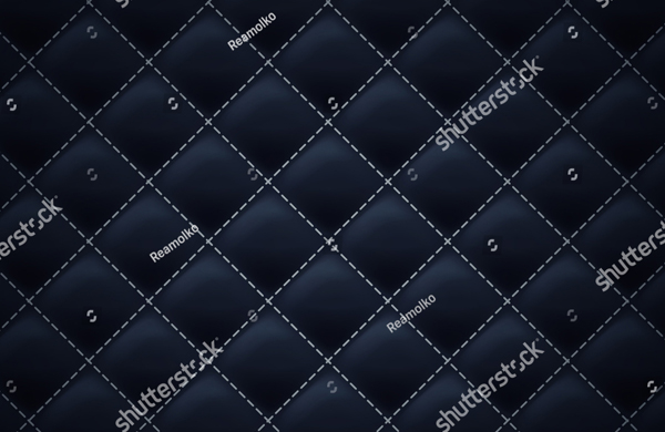 Black Color Quilted Square Pattern