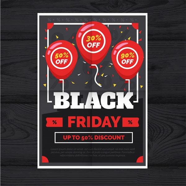 Free Vector Amazing Black Friday Flyers