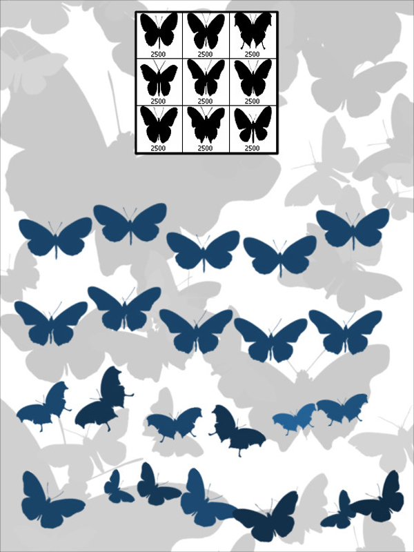 Realistic Butterfly Photoshop Brushes